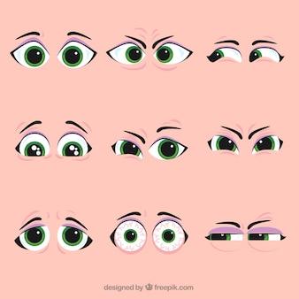 Zestaw fajny charakter oczu