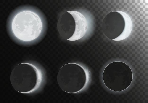 Zestaw faz księżyca