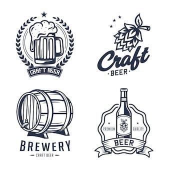 Zestaw firmy piwowarskiej piwa etykiety