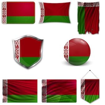Zestaw flagi narodowej białorusi