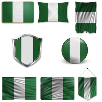 Zestaw flagi narodowej nigerii