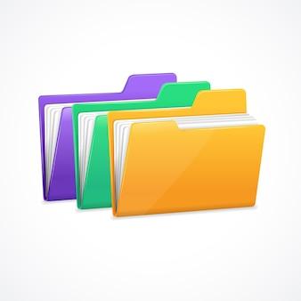 Zestaw folderów plików. archiwizacja i archiwizacja danych.