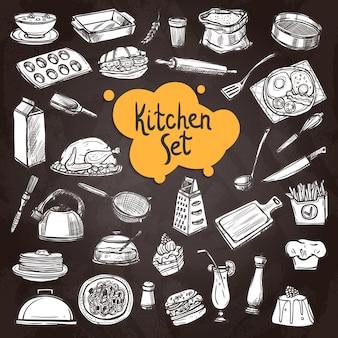 Zestaw food chalkboard