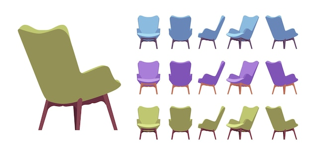 Zestaw foteli retro