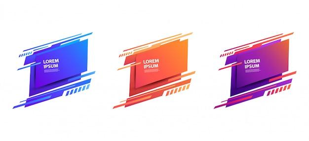 Zestaw futurystycznych odznak. ilustracja