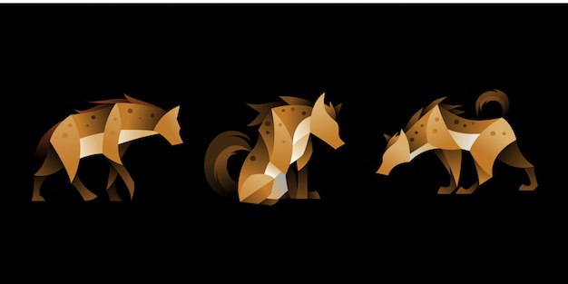 Zestaw geometrycznej hieny