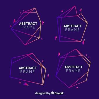Zestaw geometryczny streszczenie ramki
