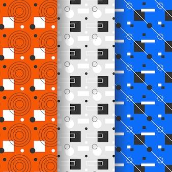 Zestaw geometryczny wzór stylu