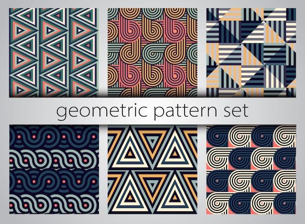 Zestaw geometryczny wzór.