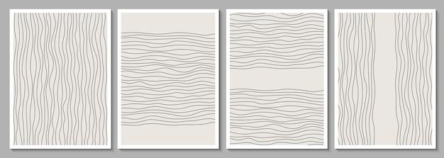 Zestaw geometrycznych minimalistycznych ramek abstrakcyjnych