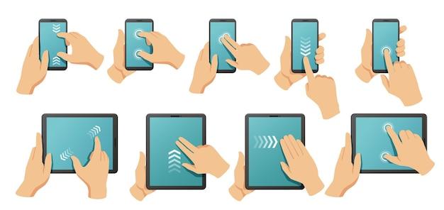 Zestaw gestów na ekranie dotykowym