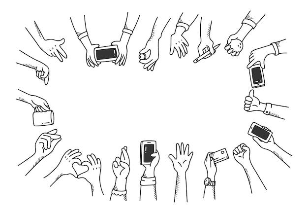 Zestaw gestów rąk