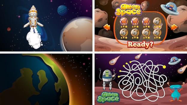 Zestaw gier kosmicznych