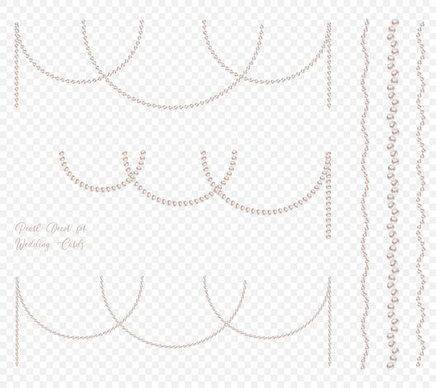 Zestaw girland z pereł do dekoracji galowych