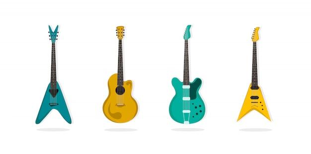 Zestaw gitarowy.
