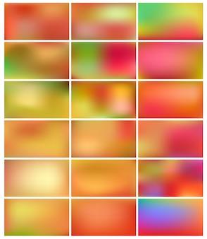 Zestaw gładkich i rozmytych abstrakcyjnych gradientu