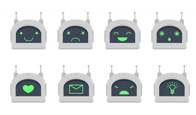 Zestaw Głowicy Chatbot Darmowych Wektorów