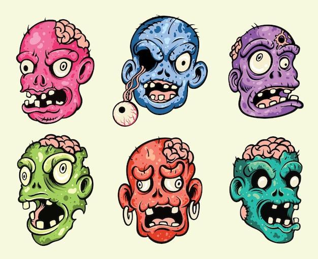 Zestaw głowy zombie