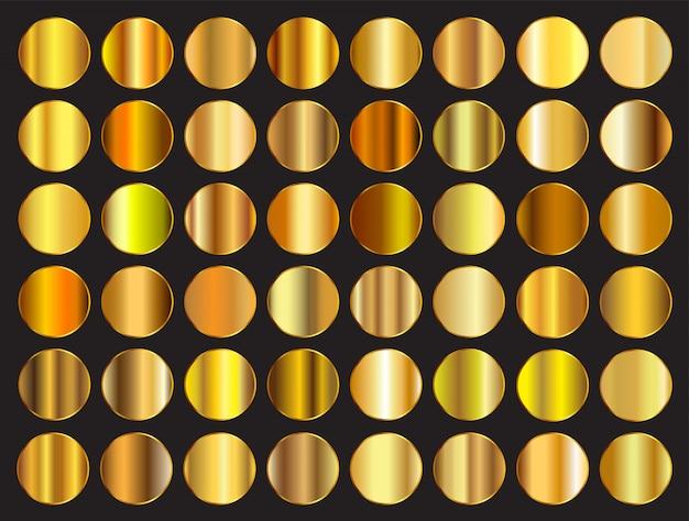 Zestaw golden gradienty