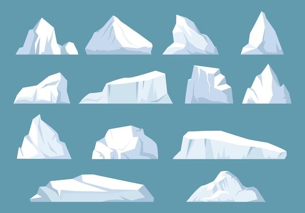 Zestaw gór lodowych odmian