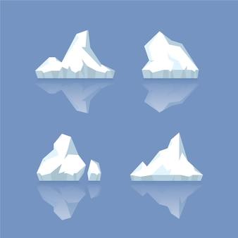 Zestaw gór lodowych