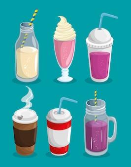Zestaw gorących i zimnych napojów