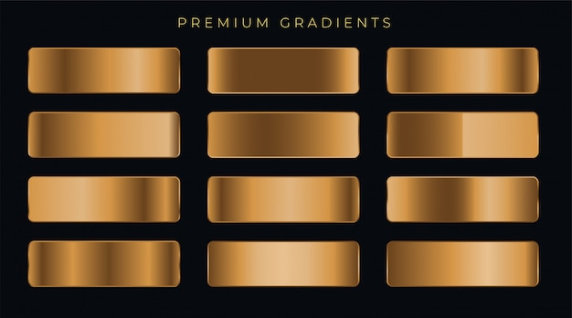 Zestaw gradientów miedzi metalicznej premii