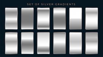 Zestaw gradientów srebra lub platyny