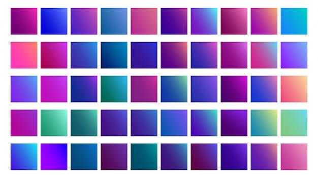 Zestaw gradientów w technicznych odcieniach niebieskiego.
