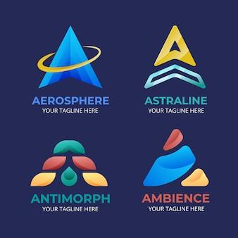 Zestaw gradientu szablon logo