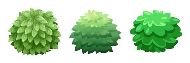 Zestaw graficzny szablonu gry bush