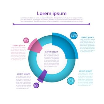 Zestaw graph finanse infographic
