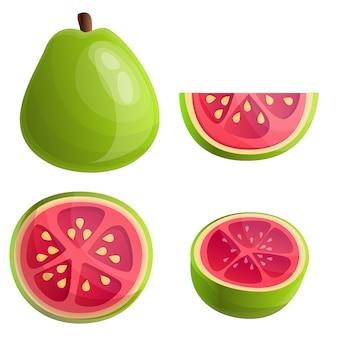 Zestaw guava, stylu cartoon