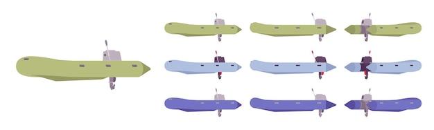 Zestaw gumowych łodzi