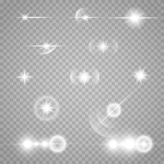 Zestaw gwiazd na przezroczystym białym i szarym tle na szachownicy.
