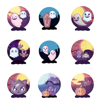 Zestaw halloweenowy