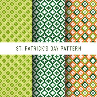 Zestaw happy st patrick's day wzór