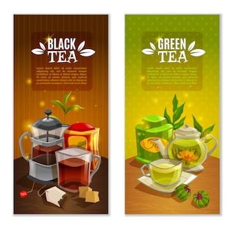 Zestaw herbaty banery