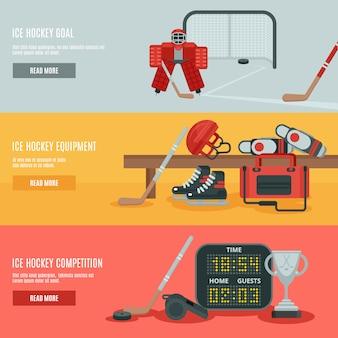 Zestaw hokej na lodzie banery