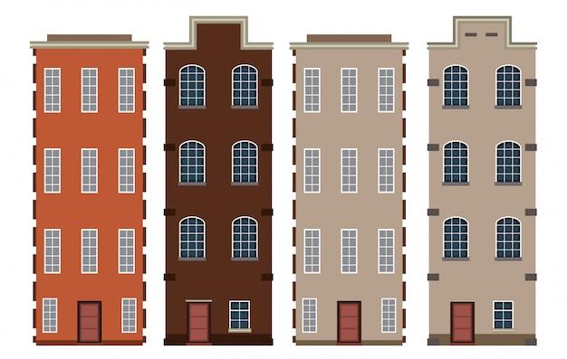 Zestaw holenderskiego budynku