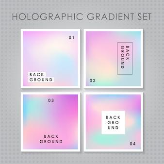 Zestaw holograficzny gradient