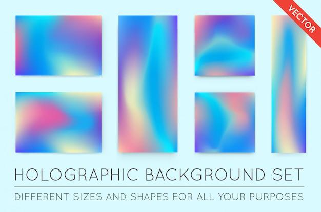 Zestaw holograficznych modnych środowisk. może być stosowany do okładek, książek, drukowania, mody.