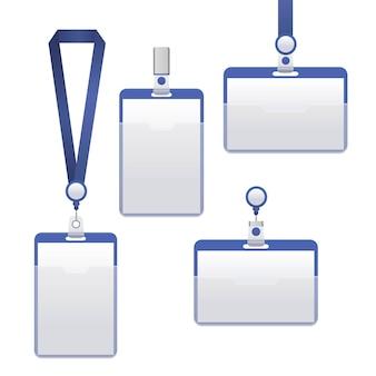 Zestaw identyfikacyjny do plakietek może być używany do prezentacji, firmy lub biura.