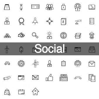 Zestaw ikon 45 społecznej