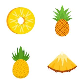 Zestaw ikon ananasa