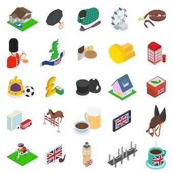 Zestaw ikon anglii