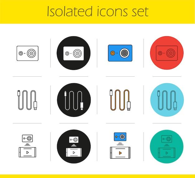 Zestaw ikon aparatu akcji