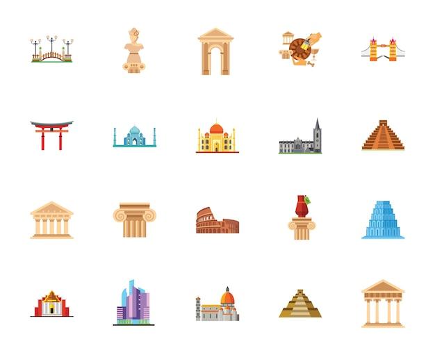 Zestaw ikon architektury
