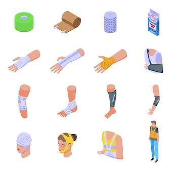 Zestaw ikon bandaż.