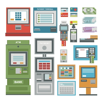 Zestaw ikon bankomatów